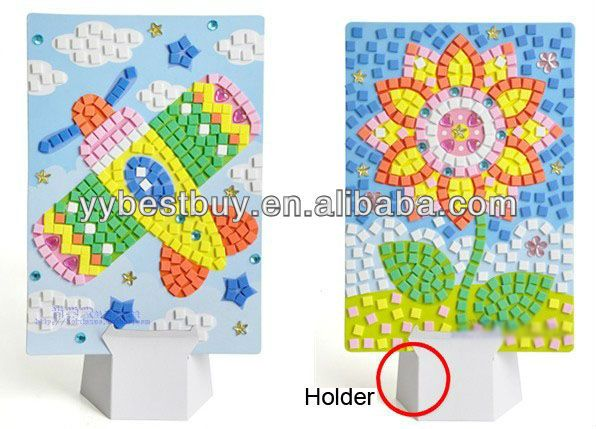 Diy Toy Kids Sticky Foam Mosaic Craft Kits View Kids Foam Craft
