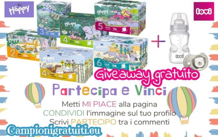 Giveaway Lovi Italia & Happy Pannolini vinci box colorata Pannolini, Biberon Medical e Succhietto Buddy Bear