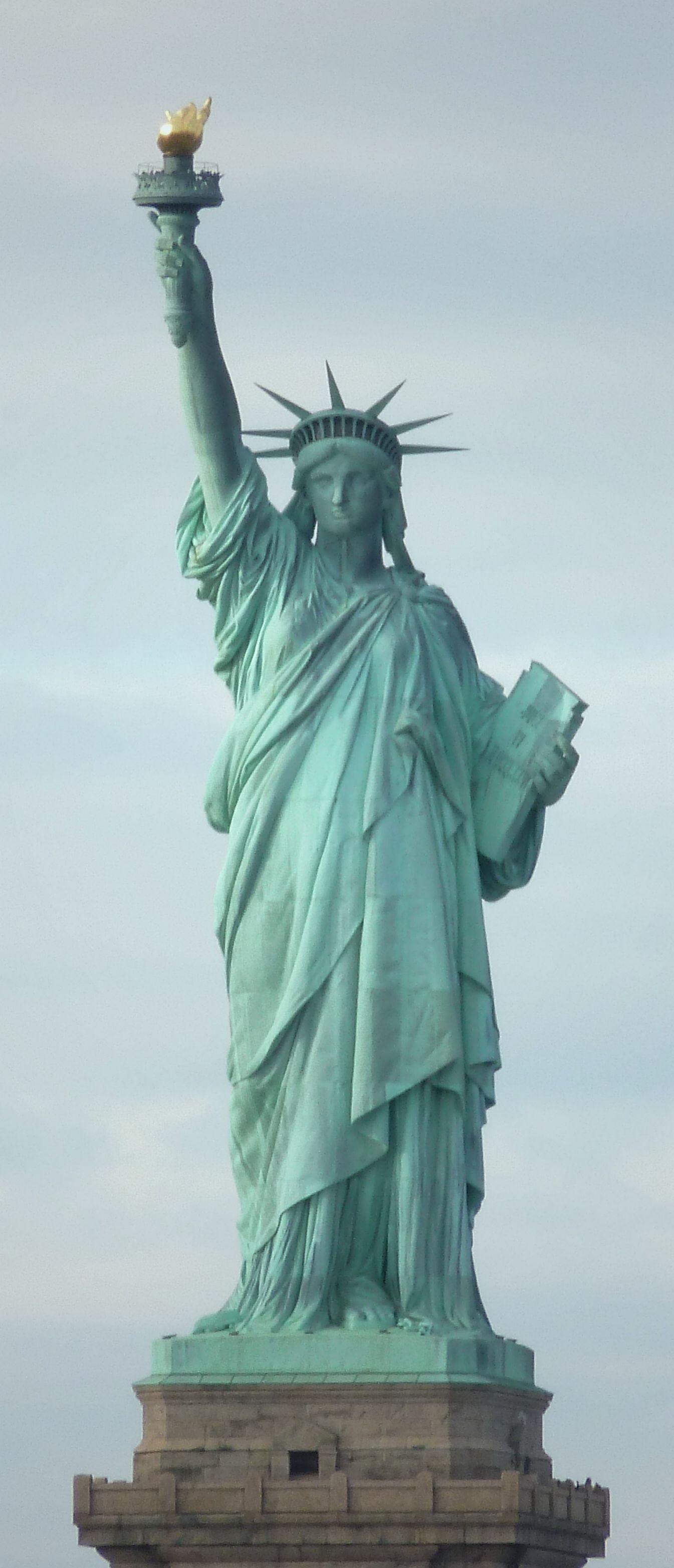 La statue de la libert new york depuis le ferry pour for Famous statues in new york