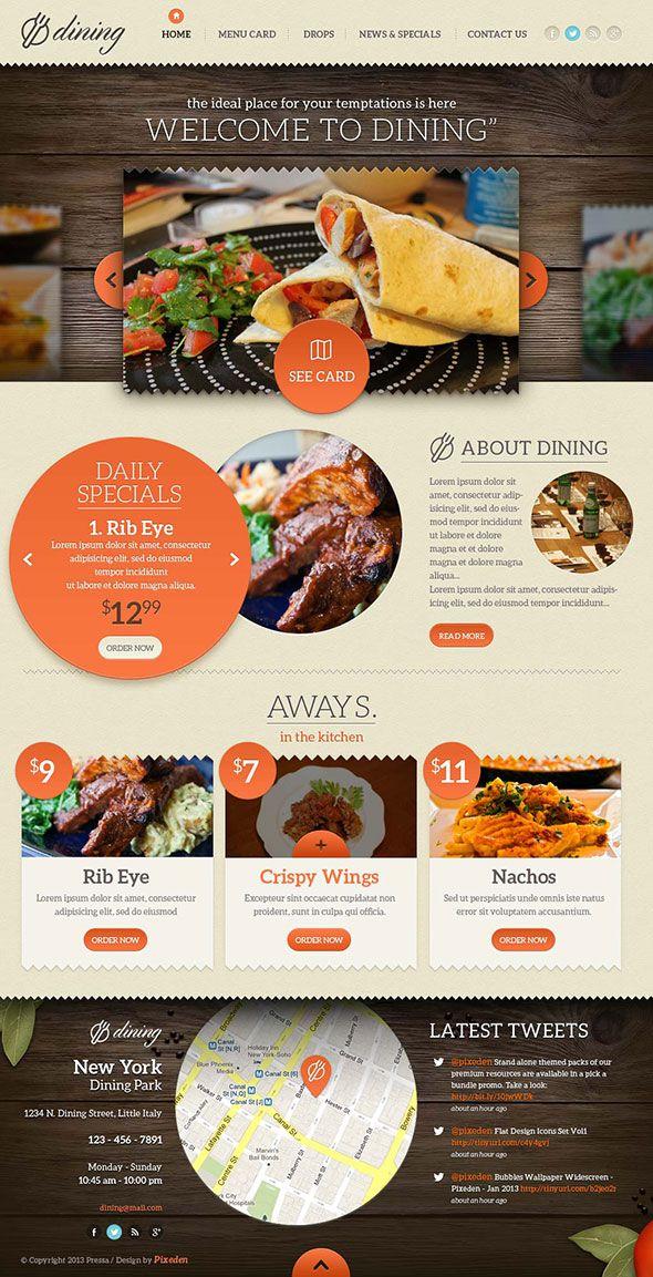 psd-comedor-restaurante-PSD-plantilla | Diseño | Pinterest | Flyer ...