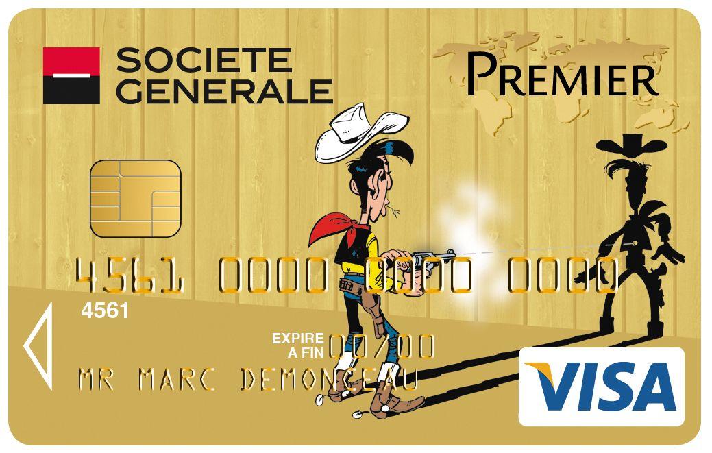 Carte Collection Visa Premier Societegenerale Lucky Luke Bd