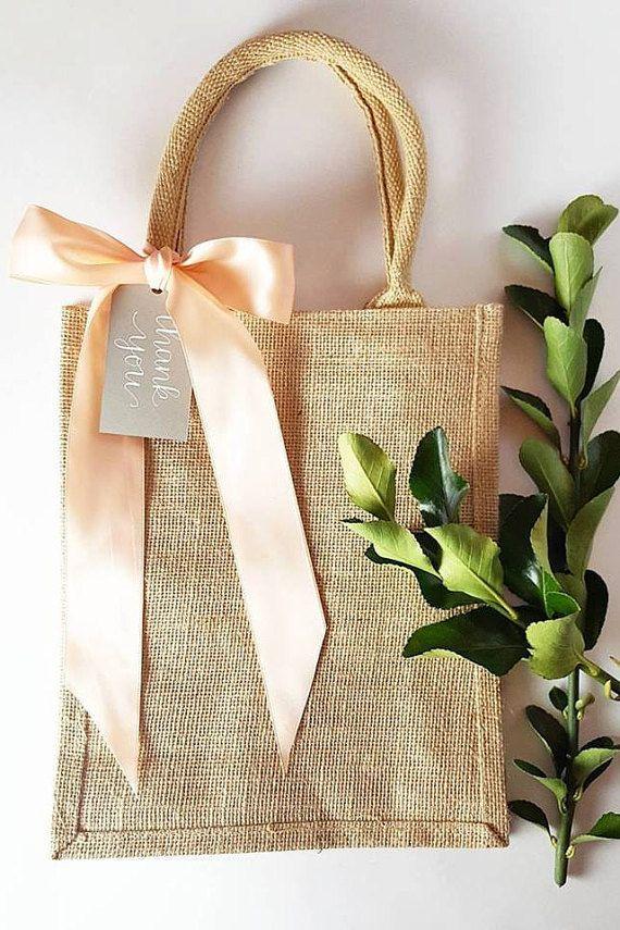 Rustic Elegant Burlap Wedding Hotel Welcome Bag, Gift ...