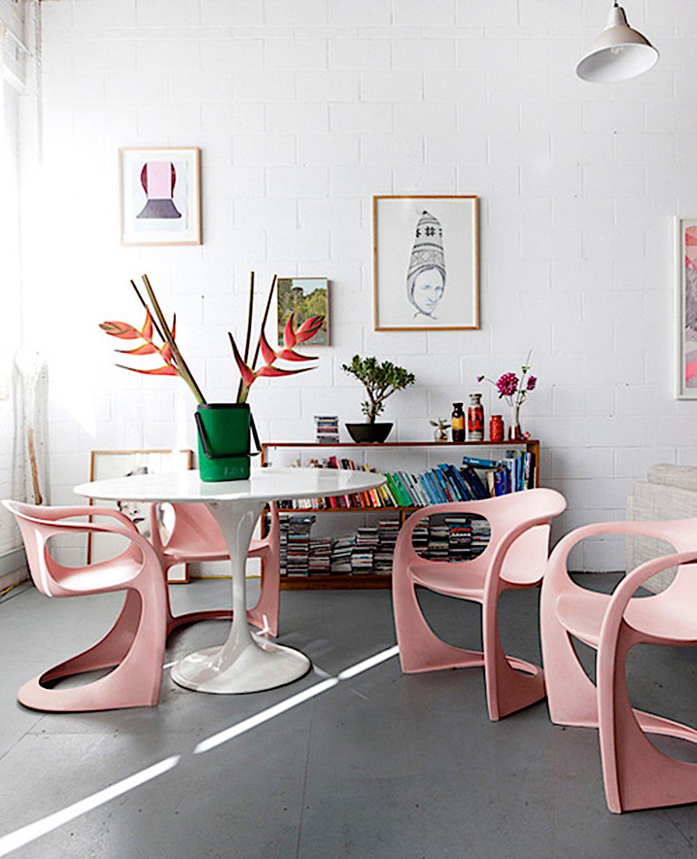 12 Swoonworthy Dining Rooms You\'ll Love! | Pink chairs, Room and Dining