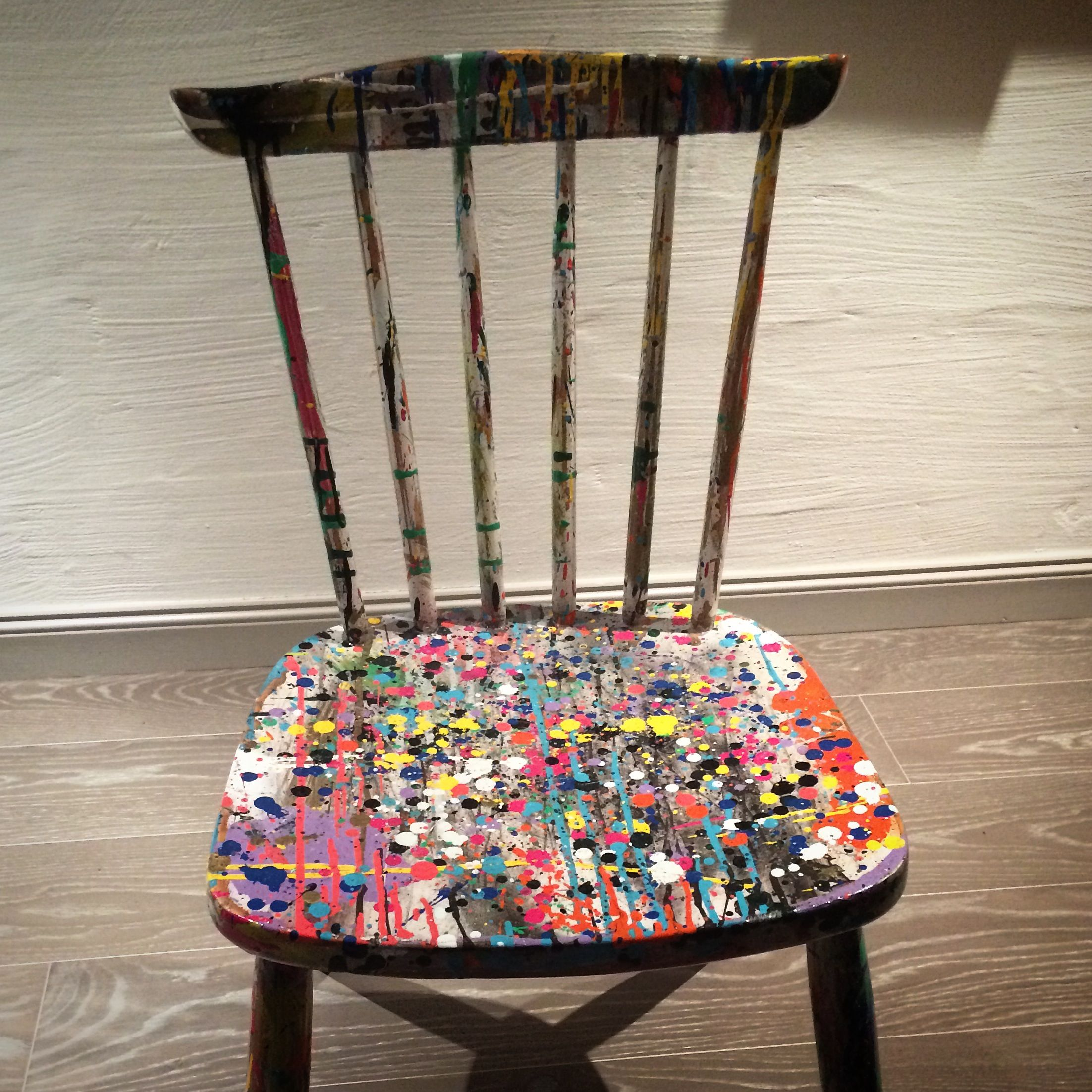 old scrap chair and some paint steam
