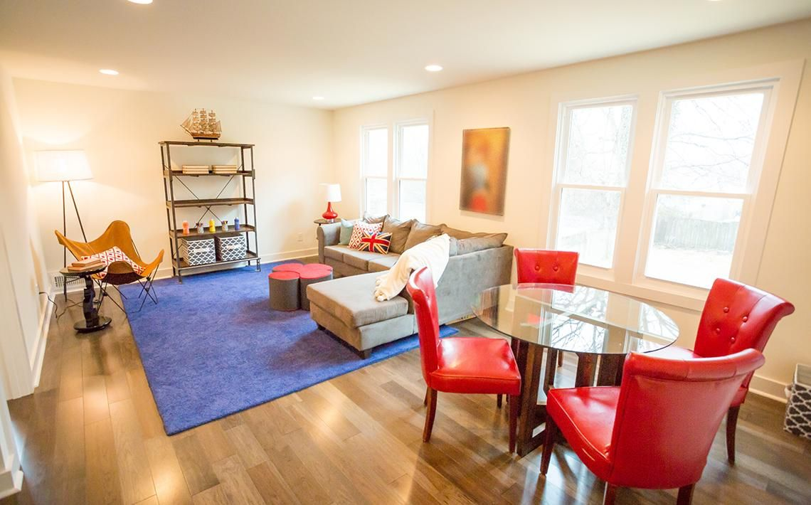 top red living room casual. From Masters Of Flip The Pops Red Make Such A Bold Statement We Top Living Room Casual O