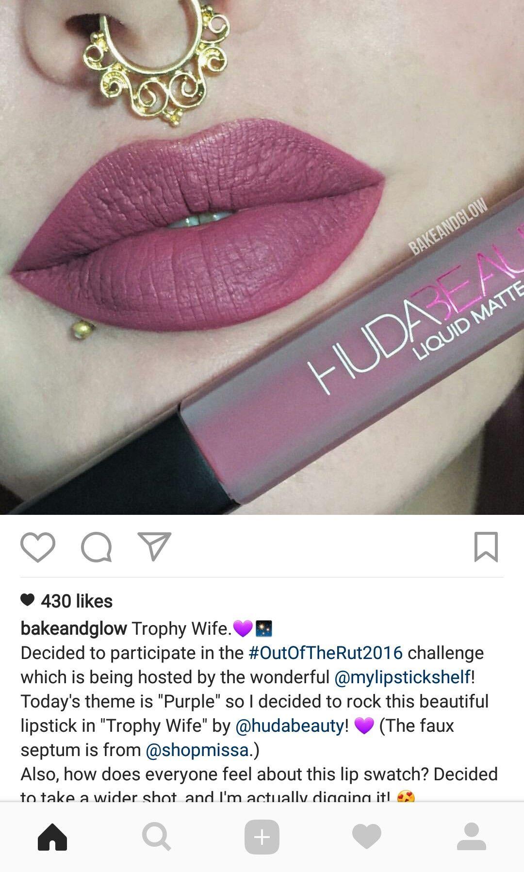Huda Beauty Trophy Wife Liquid Lipstick Beauty In 2019 Trophy