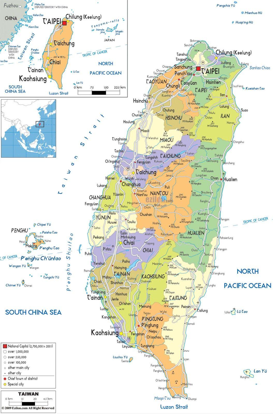 2019的taiwan Geografiske Kort Over Taiwan Dansk Encyklopaedi 打印