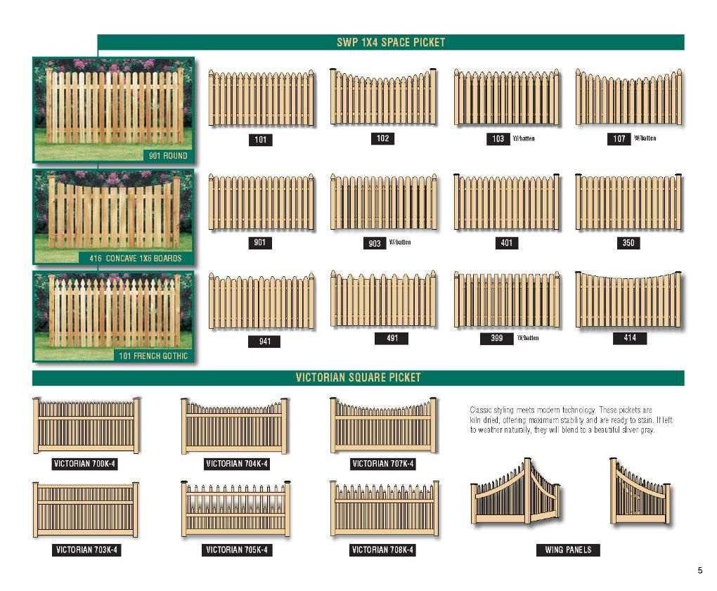 Cedar Picket Fence Styles Fence Styles Fence Backyard Patio