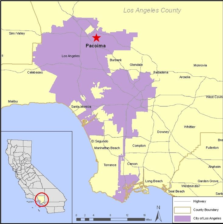 Pacoima CA Map Pacoima CA Pinterest - Ca maps