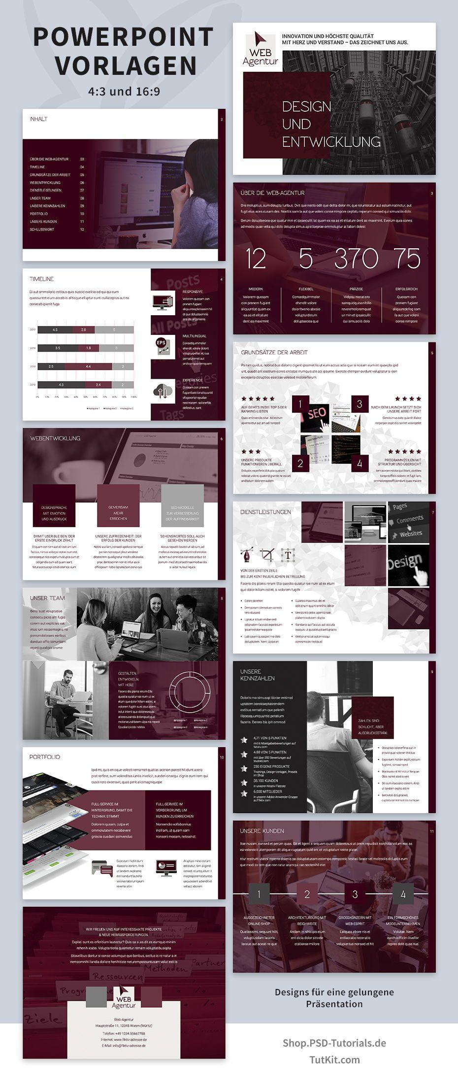 Prasentationsvorlagen Fur Powerpoint Layouts Fur Designstarke Folien Power Point Powerpoint Layout Prasentation