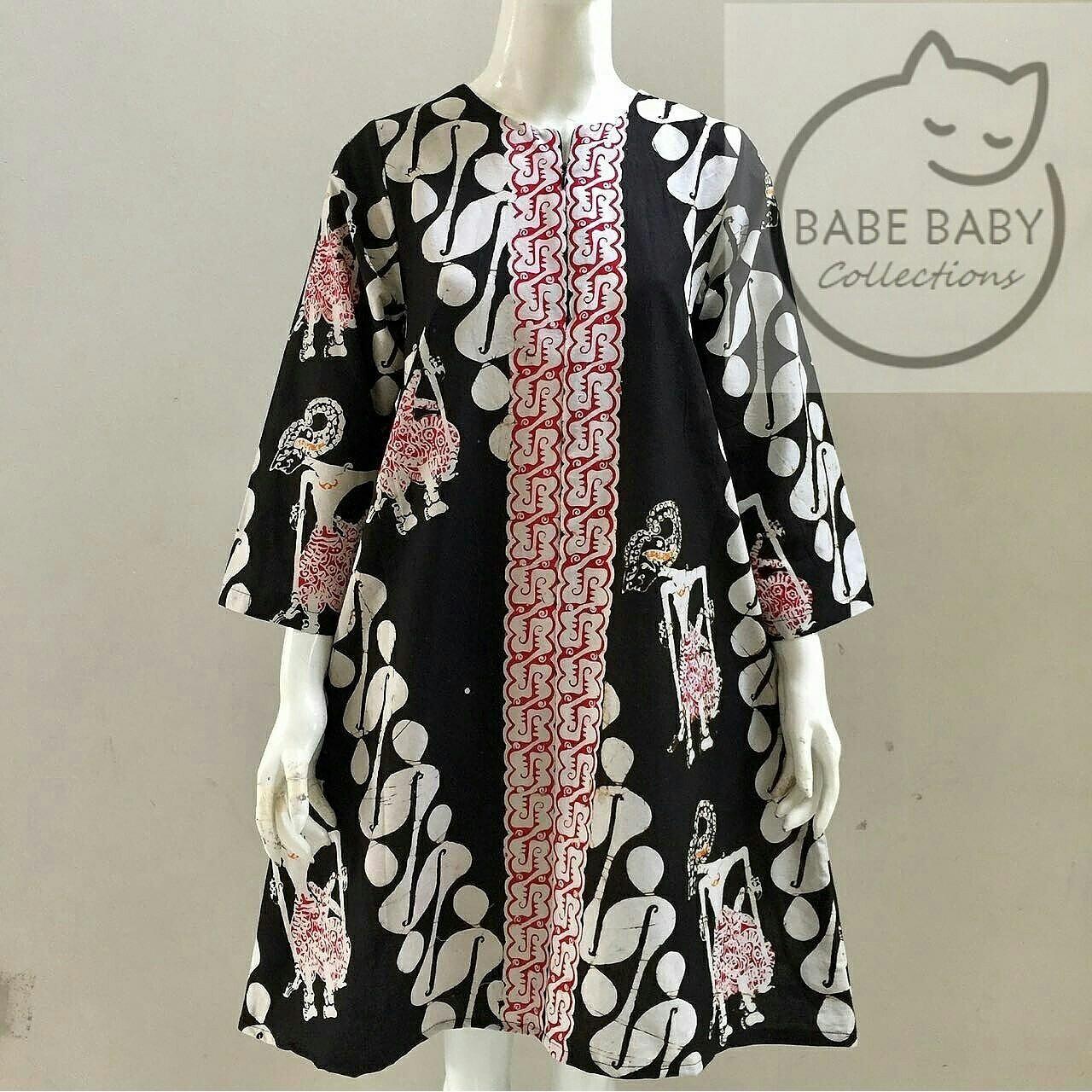 Image result for model baju batik parang hitam putih  Gaun pendek