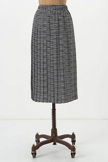 Navy Day Midi Skirt  -  Anthropologie -$98