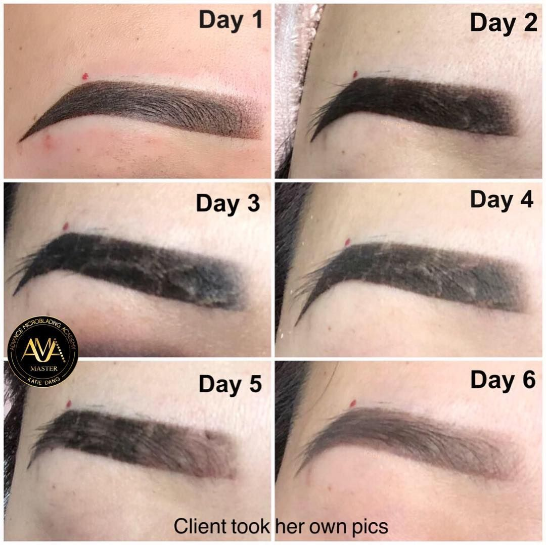 Katie Dang On Instagram Ombre Shading Healing Stages Next Class Santaana Nyc Hawaii Chicago Philadelp Microblading Microblading Eyebrows Brow Makeup