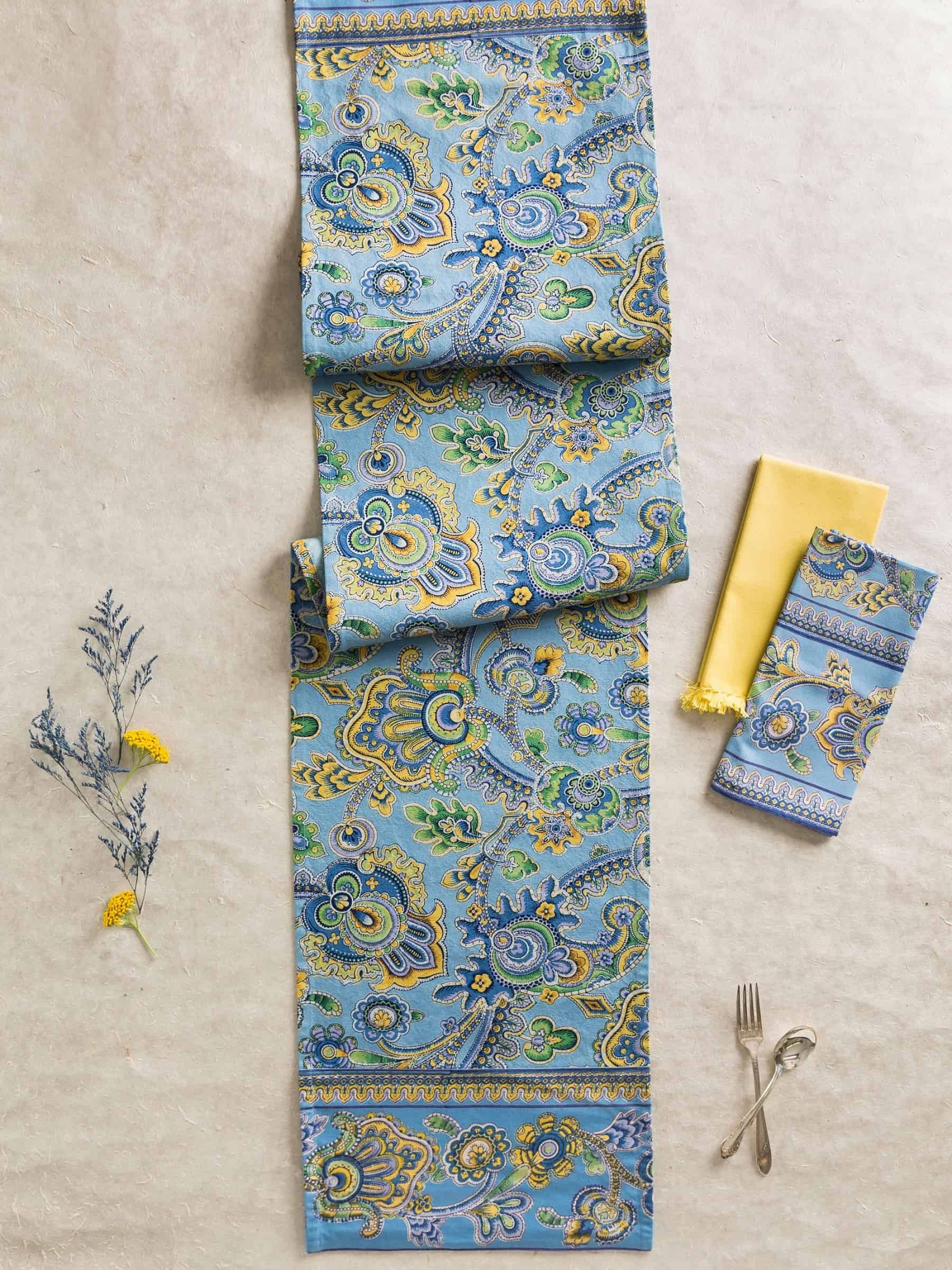 April Cornell Table Runner Queen S Court Collection Paisley Blue Gifts Giftideas Homedecor