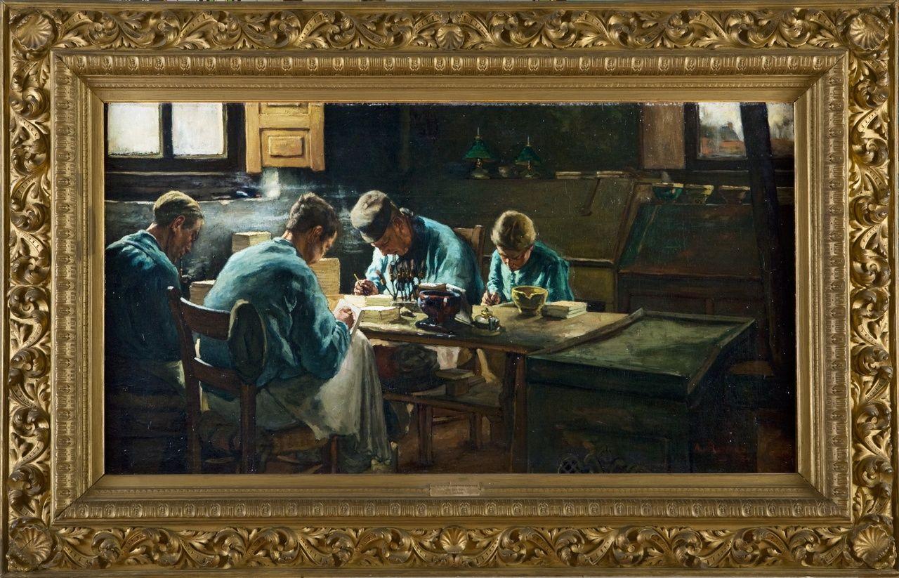 Tegelschilders, Anthon Gerhard Alexander van Rappard, 1884.