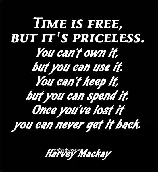 Love Finds You Quote: Harvey Mackay Quote On The Significance Of 'time'