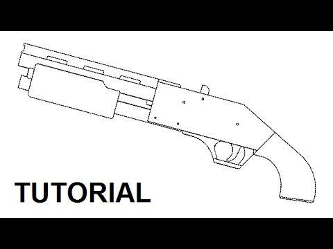Pump action rubber band shotgun — $5 plans and tutorial