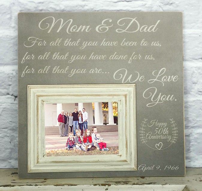 50th Wedding Anniversary Gift Ideas For Parents. Th Wedding ...
