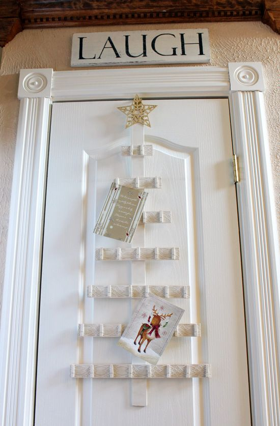 Christmas Tree Card Holder From Confessions Of A Serial Do It Yourselfer