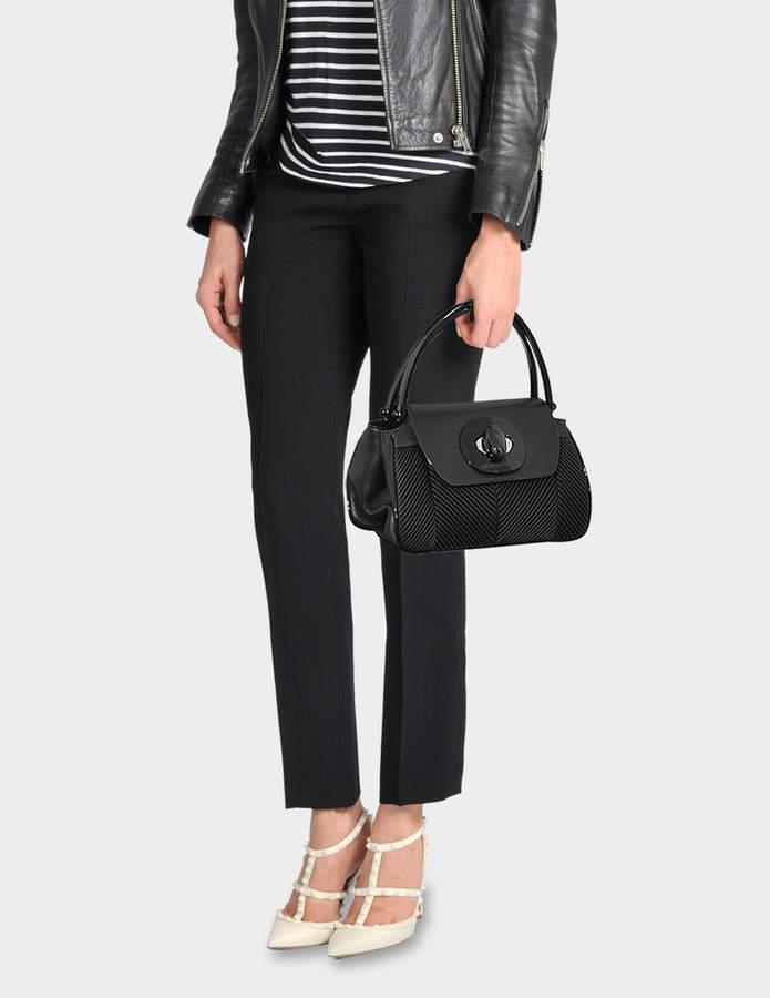 bd93dae76a27 Giorgio Armani Musa Bag in Black Nappa Pleated Leather
