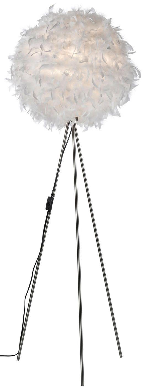 Weiße Stehleuchte mit Federn   Stehlampe, Lampe, Lampe mit ...