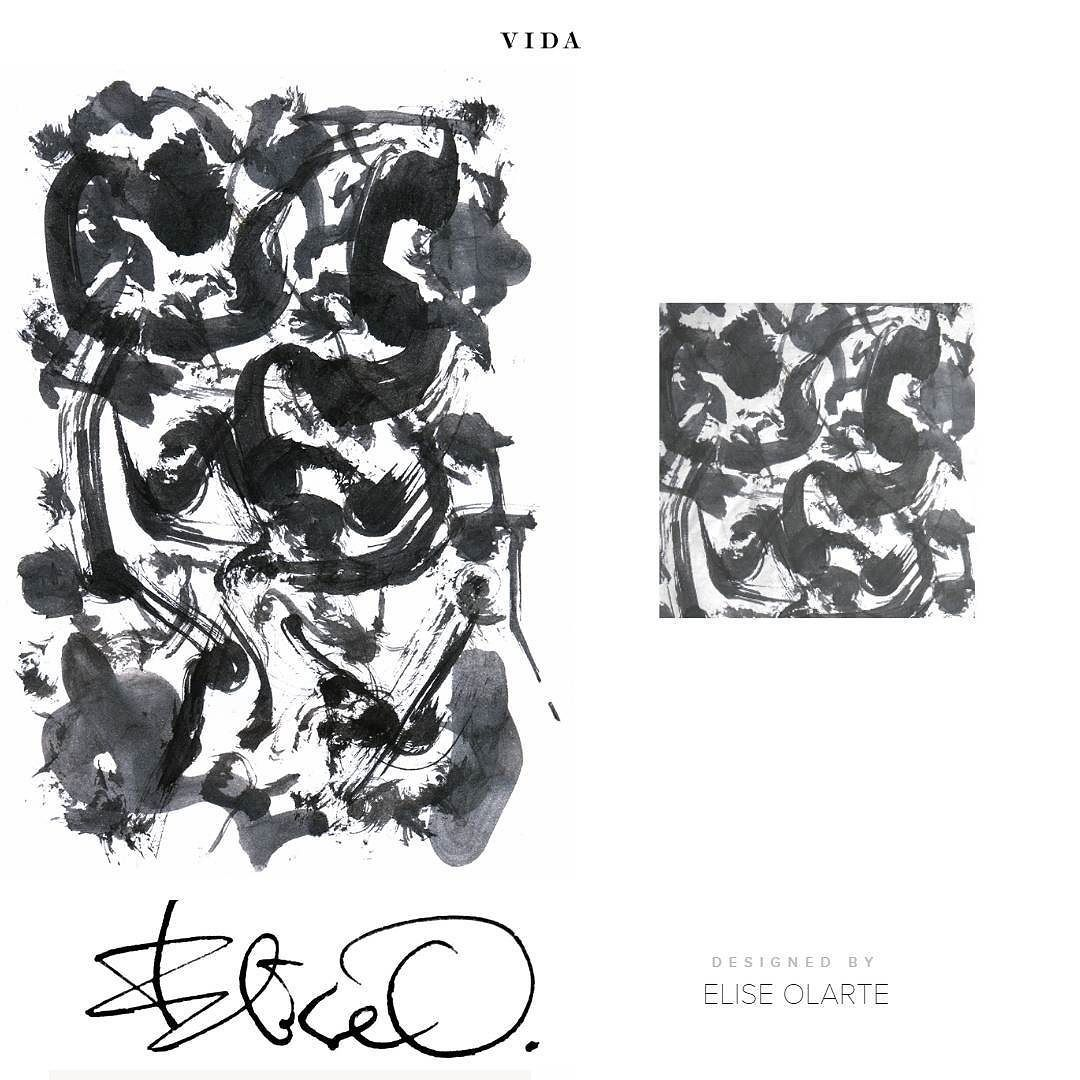 """VIDA's Cotton Pocket Square featuring my """"Black Ink 1"""" abstract painting.  Check out my VIDA Voices Collection! Customers who buy my FIRST 10 pieces will each receive a $25 VIDA Gift Card!  http://ift.tt/23GzolD (clickable shop links in my instagram bio)  #VIDA #VIDAvoices #shopvida #design #painting #watercolor #abstract #handkerchief #silk #pocketsquare #black #blackandwhite #print #fashion #mensfashion"""