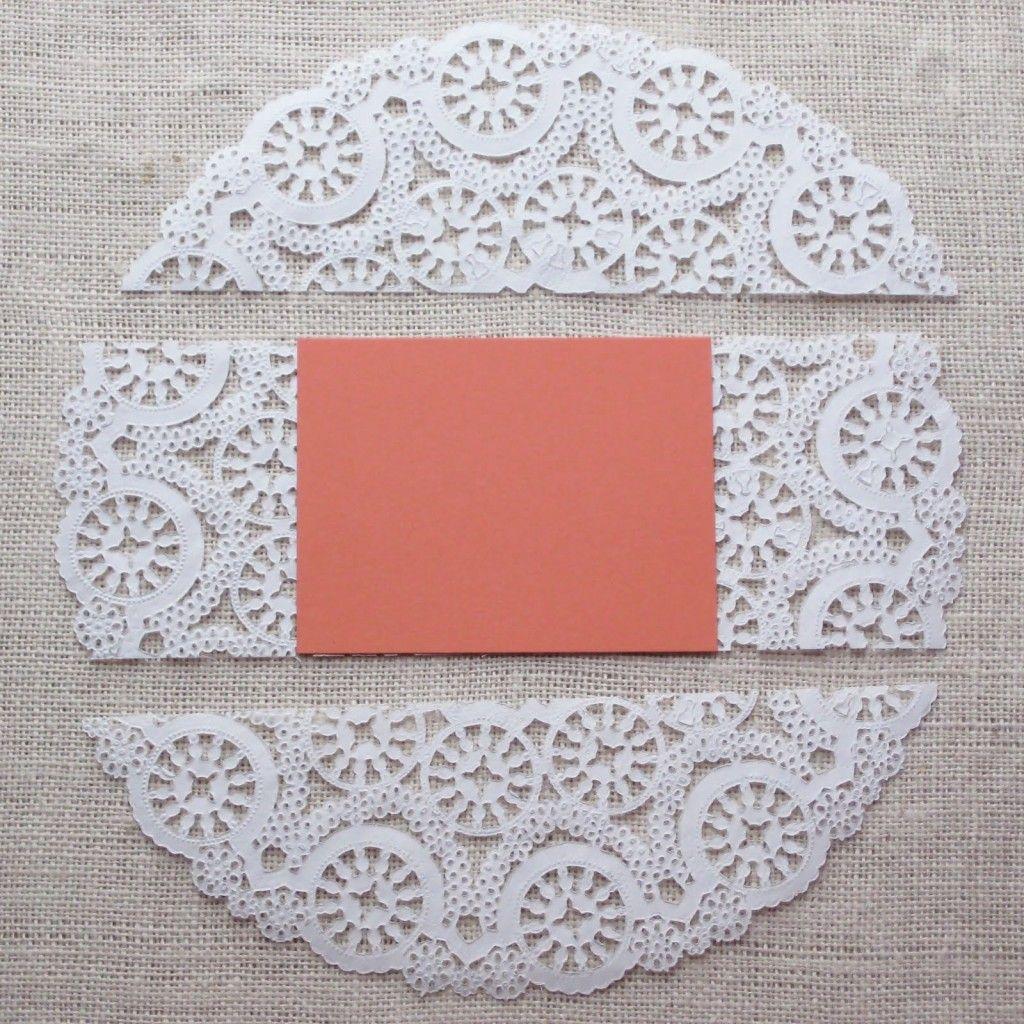 Lace paper   XV Invitaciones   Pinterest