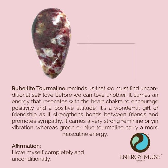 Rubellite Tourmaline Reminds Us That To Love Another We Must Fully Love Ourselves First Crystals Energy Muse Chakra Crystals Rubellite Tourmaline