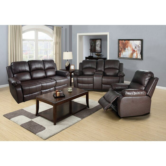 Best Harton Reclining 3 Piece Living Room Set Conjuntos De 400 x 300