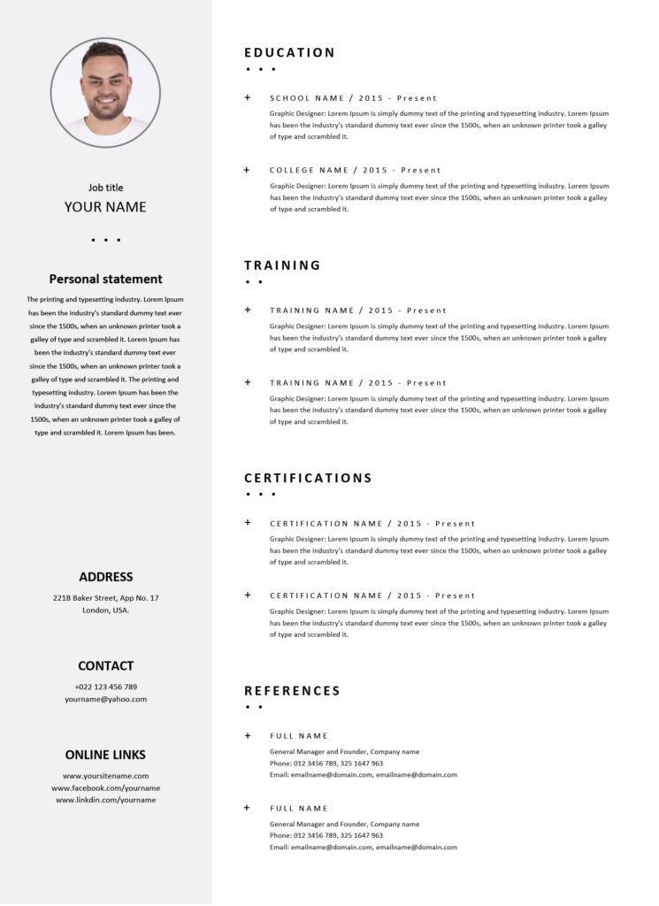 How to write a CV with no experience in 2019? (with CV