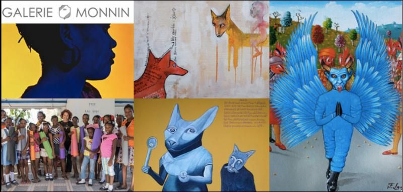 Galerie monnin hosts a 2 night fundraiser for ayiti yoga