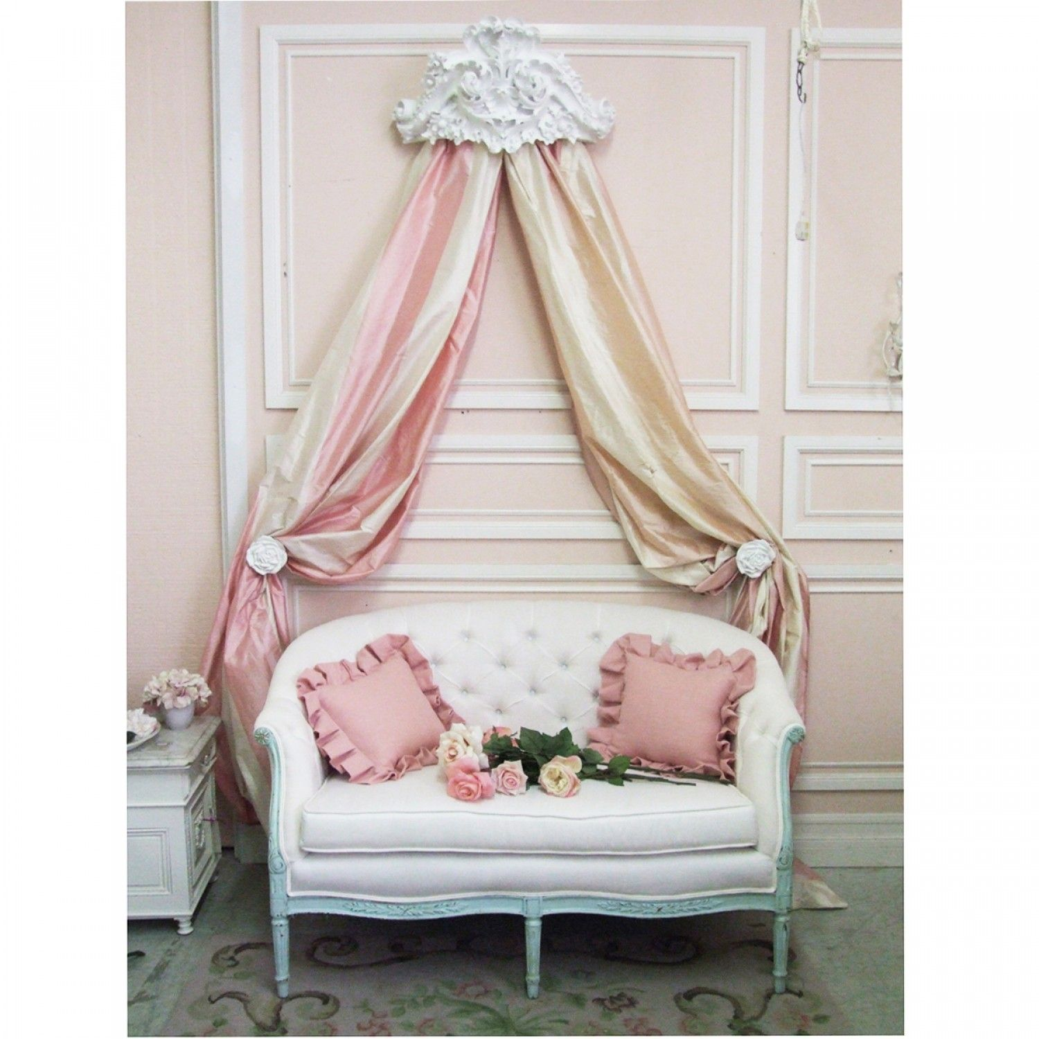 Lille Ornate Bed Crown $32130 #Thebellacottage #Shabbychic