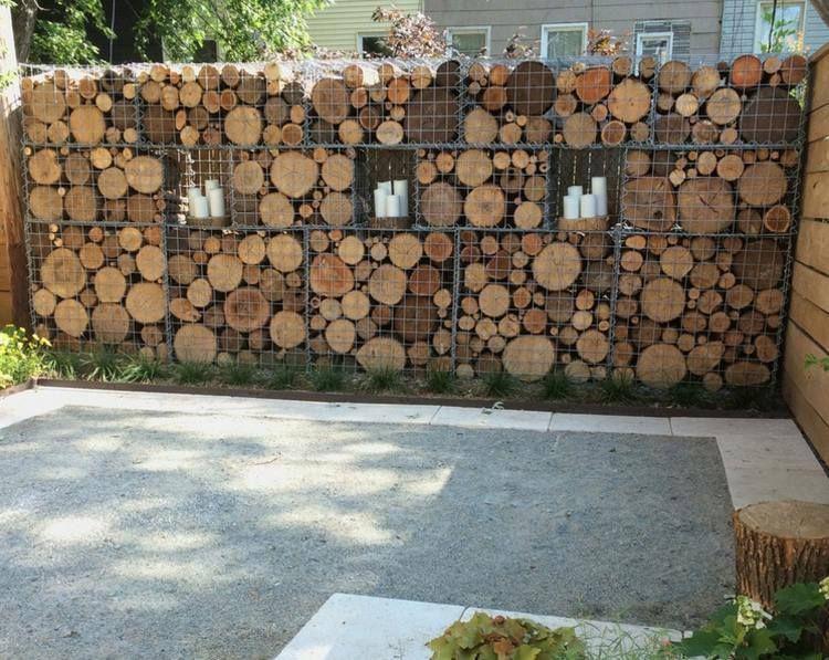 Mur en gabion comme un élément décoratif dans le jardin | Fences ...