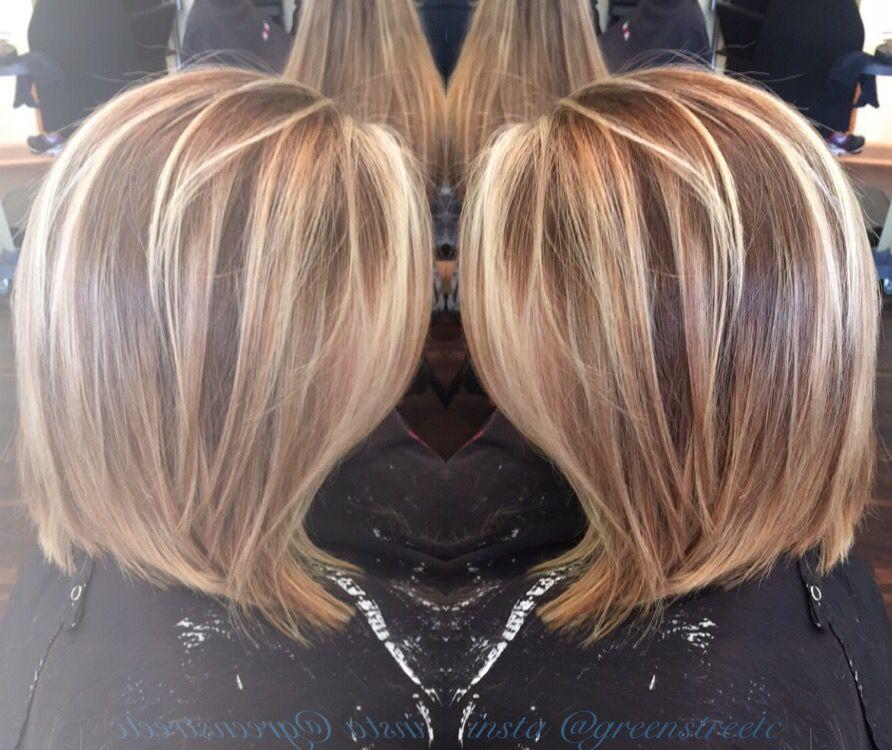 Multi Dimensional Blonde Bayalage On A Long Bob