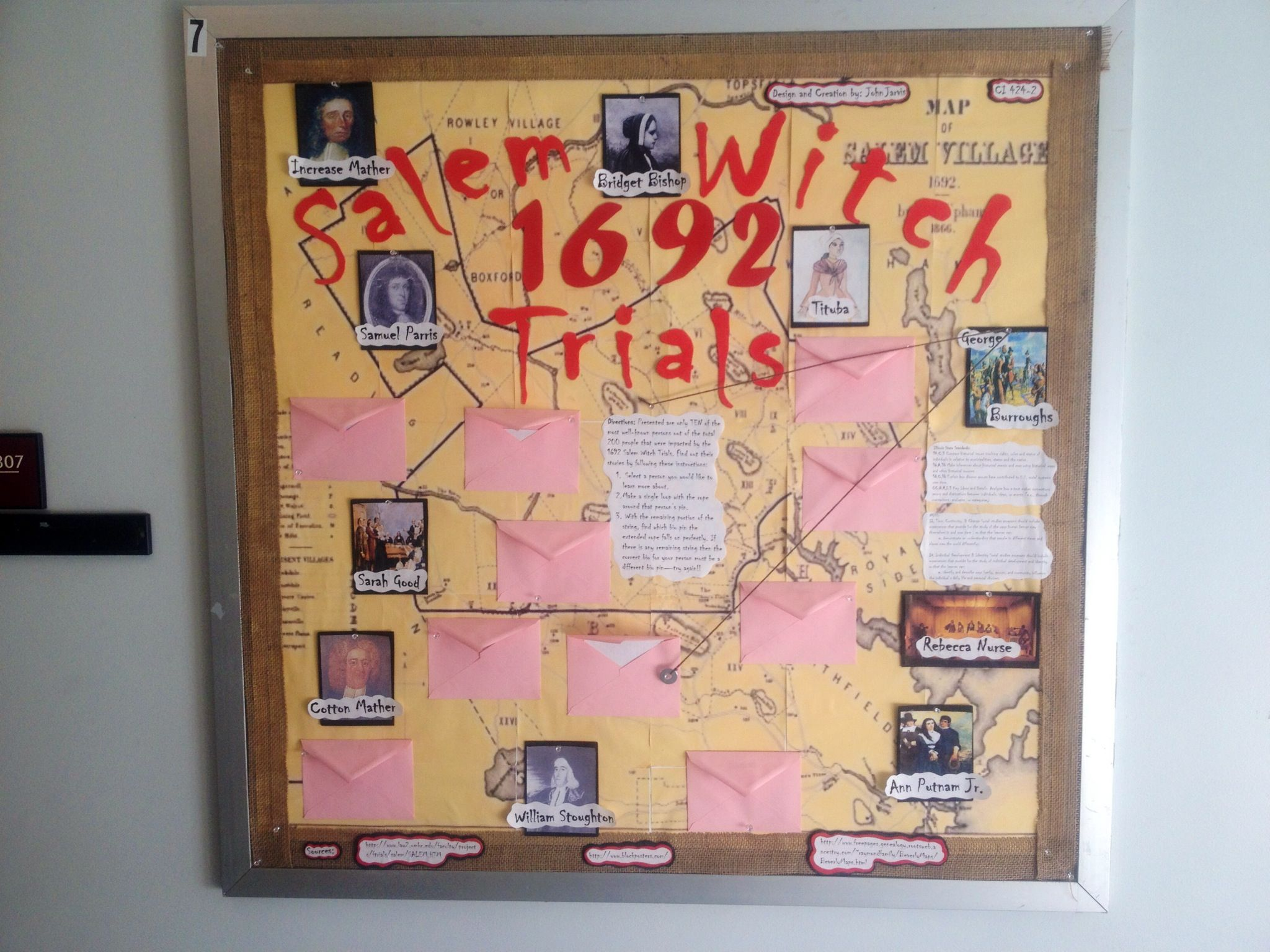 Salem Witch Trials Bulletin Board Informative