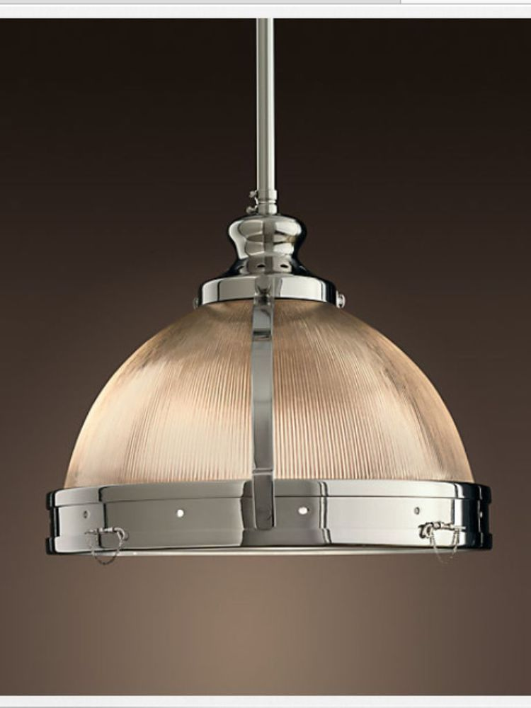 Island Lighting 2 Pendants Restoration Hardware Clemson Prismatic Single Pendant 18 Polished Chrome