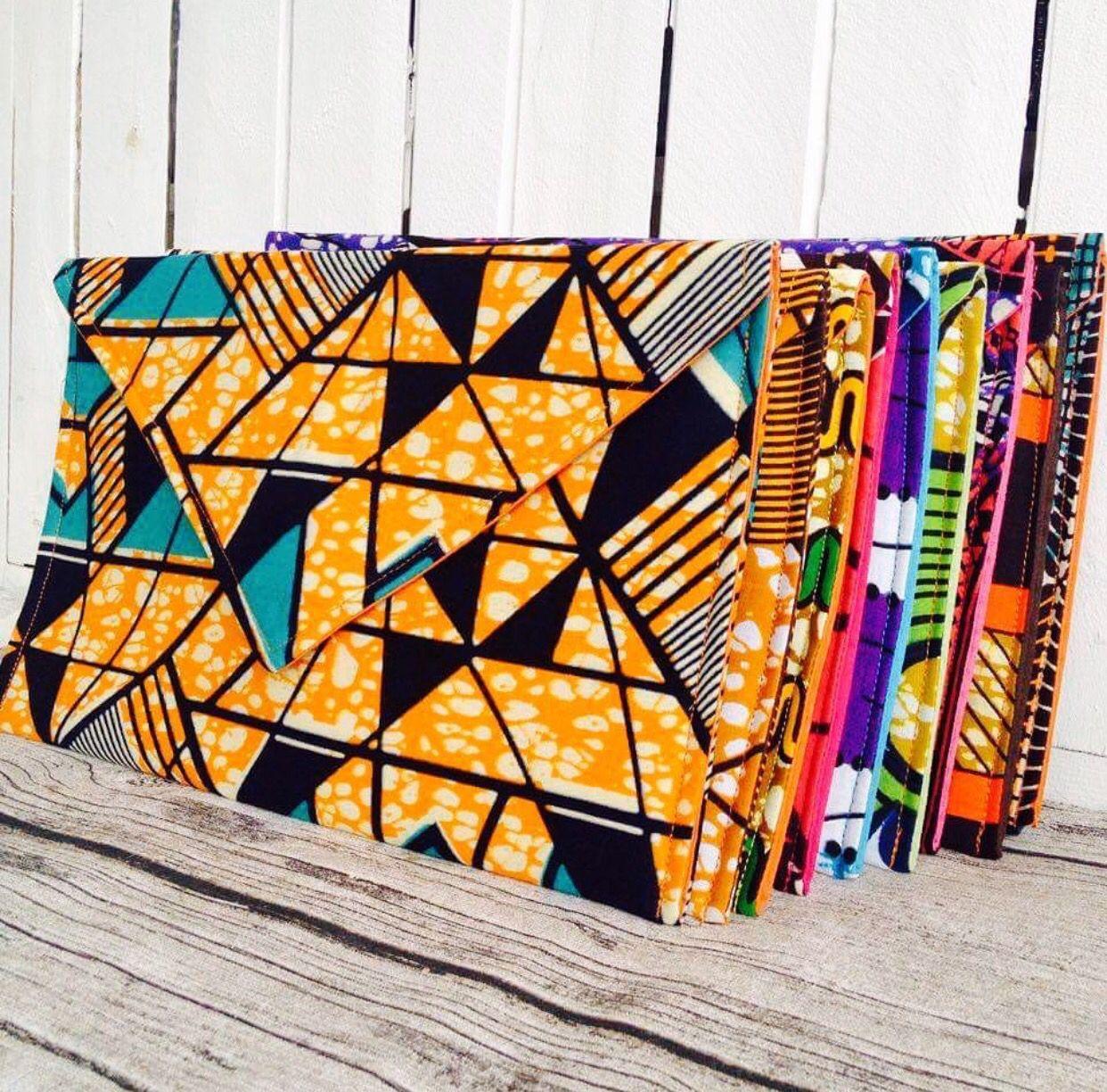 Clutch bag. Evening bag. Handbag. African Print. African Wax