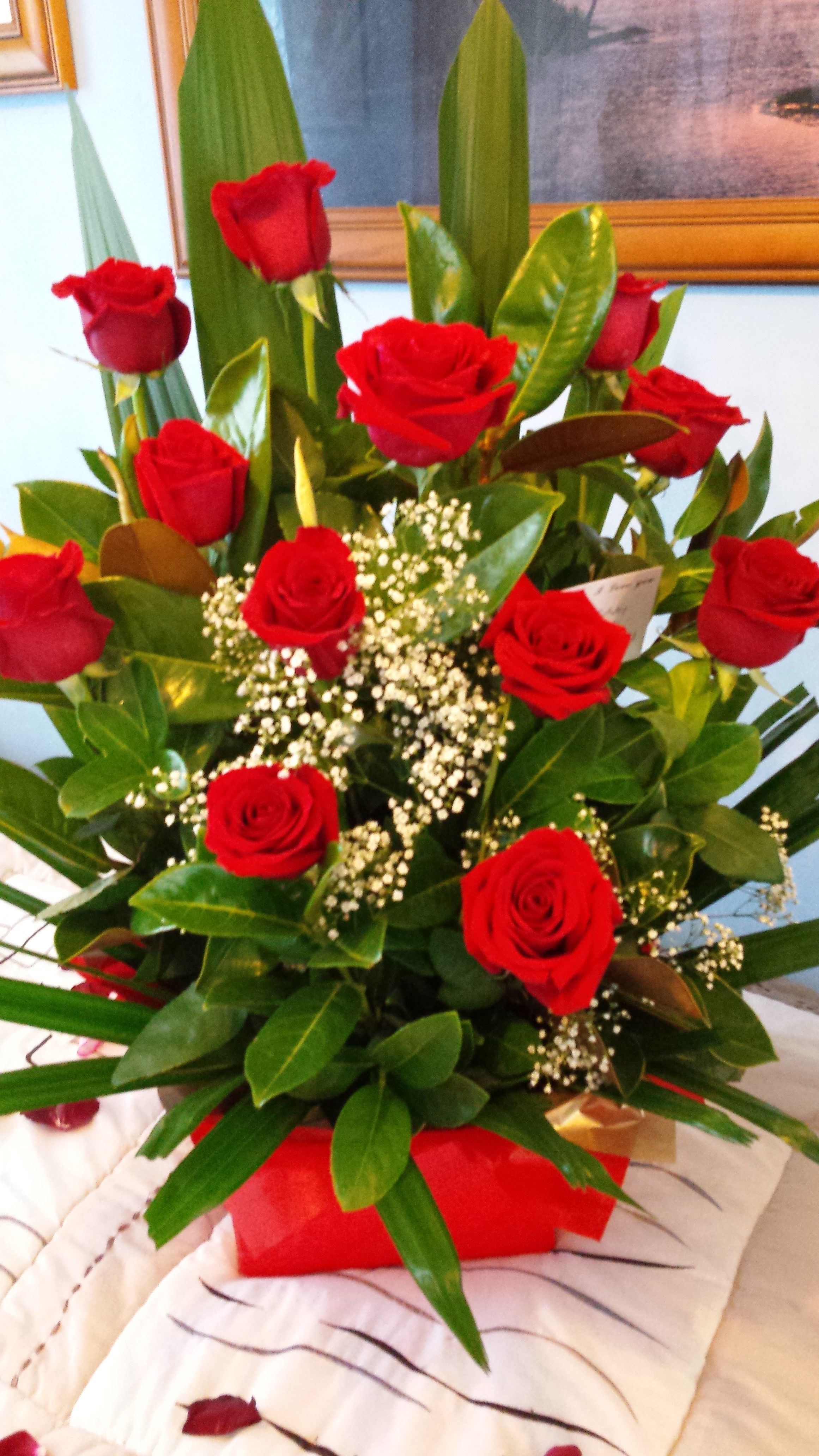 Beautiful Red Roses For My Lovely Girlfriends Birthday Flower