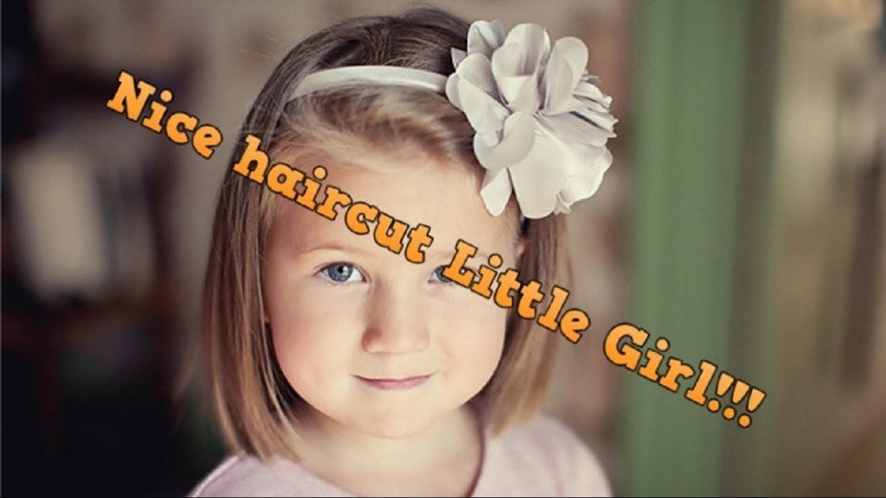 Beautiful Little Girl Gets A Cute Haircut Nice Hairstyle Little