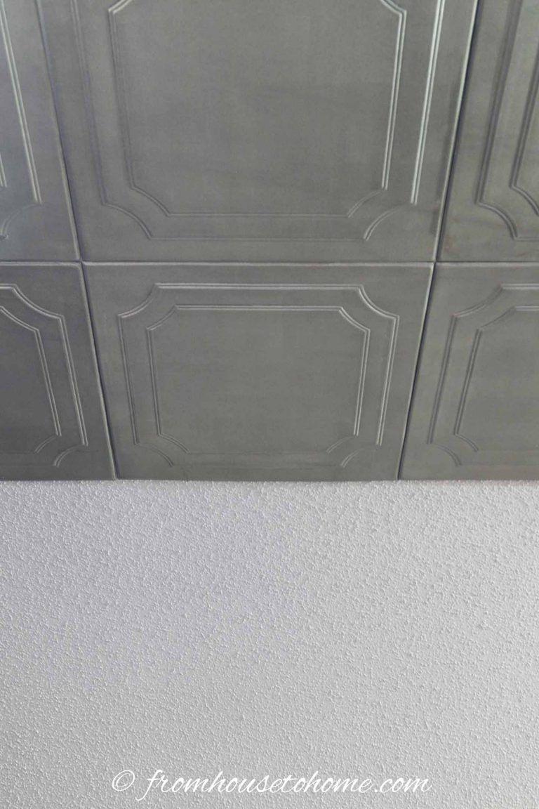 How to Install Styrofoam Faux Tin Ceiling Tiles Faux tin