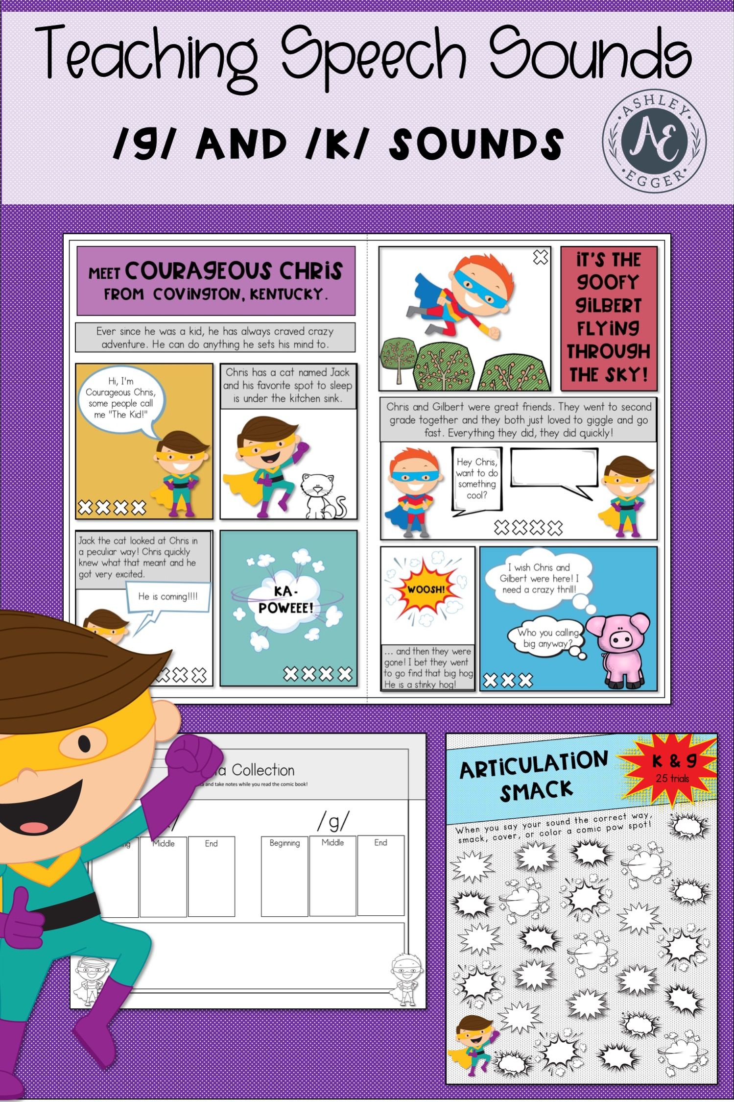 K And G Articulation Activities For Speech Therapy Easy