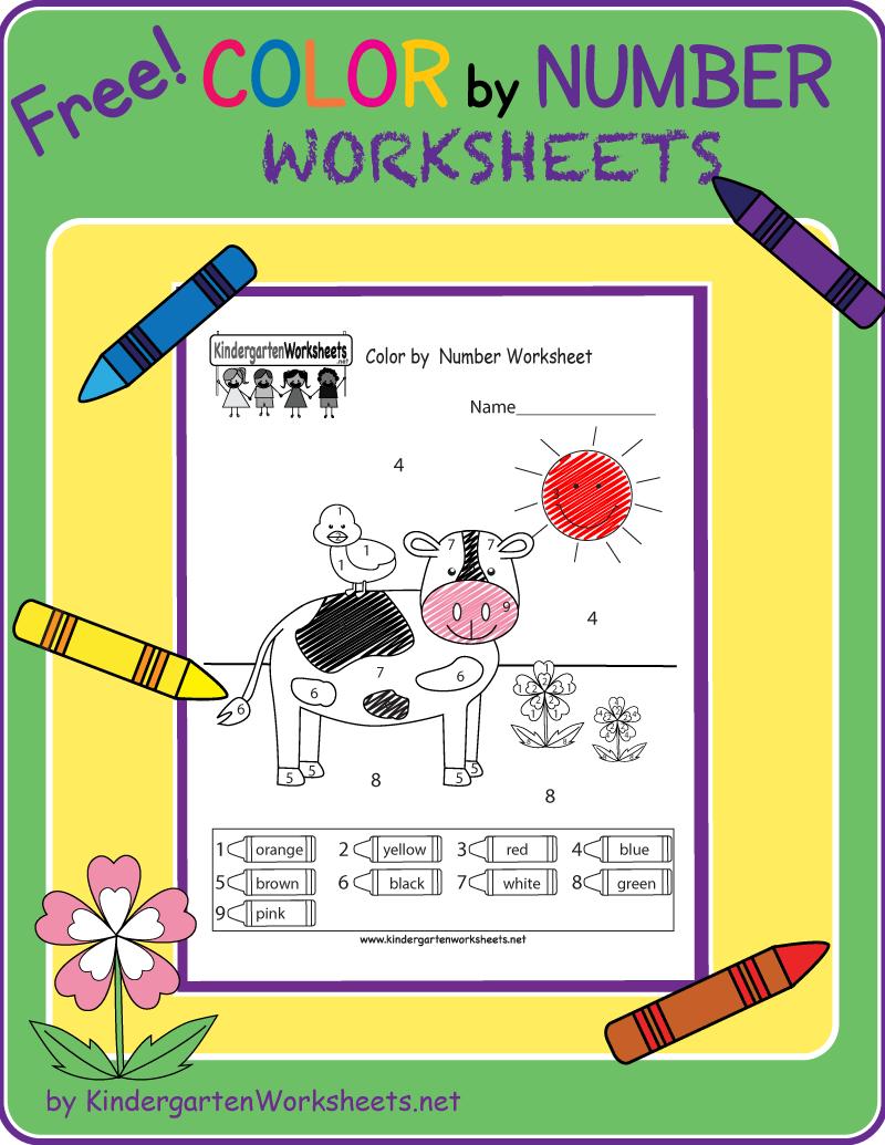 Color By Number Worksheet Kindergarten Math Free Kindergarten Math Worksheets Free Kindergarten Math Worksheets [ 1035 x 800 Pixel ]