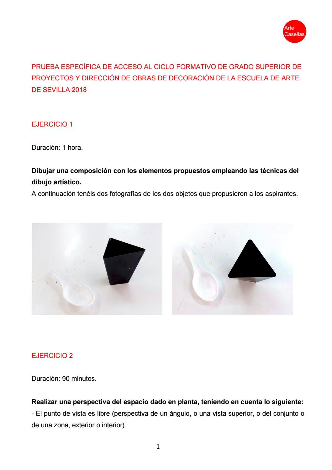 Modelo Prueba Específica Interiores Grado Superior Sevilla 2018 Escuela De Arte Modelo De Examen Disenos De Unas