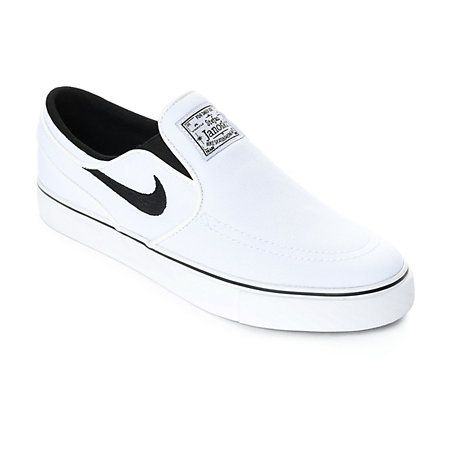 detailed look b597d 84895 The new Nike SB Janoski White and Wolf Grey Slip-On Canvas Skate Shoes  embody