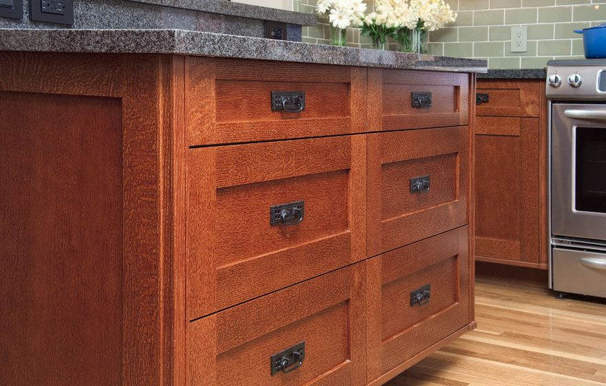 Quarter Sawn Oak Cabinets Kitchen Shaker Cabinet Doors With A Modified 3 Frame In Quarter