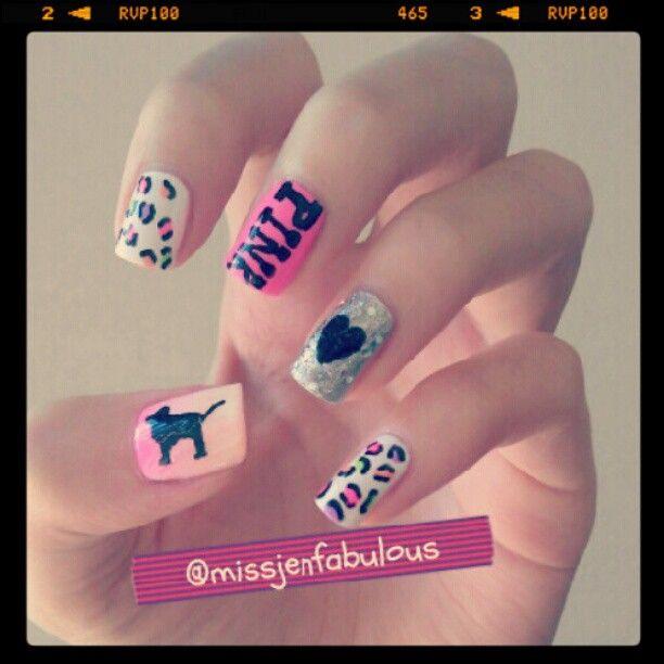 Victoria Secret Pink | missjenfabulous Victoria Secret PINK nails ...