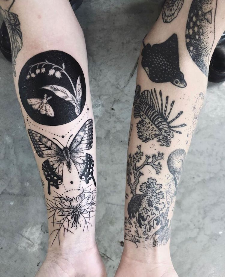 Delicately Inked Tattoos Looks Like Enchanting Tal