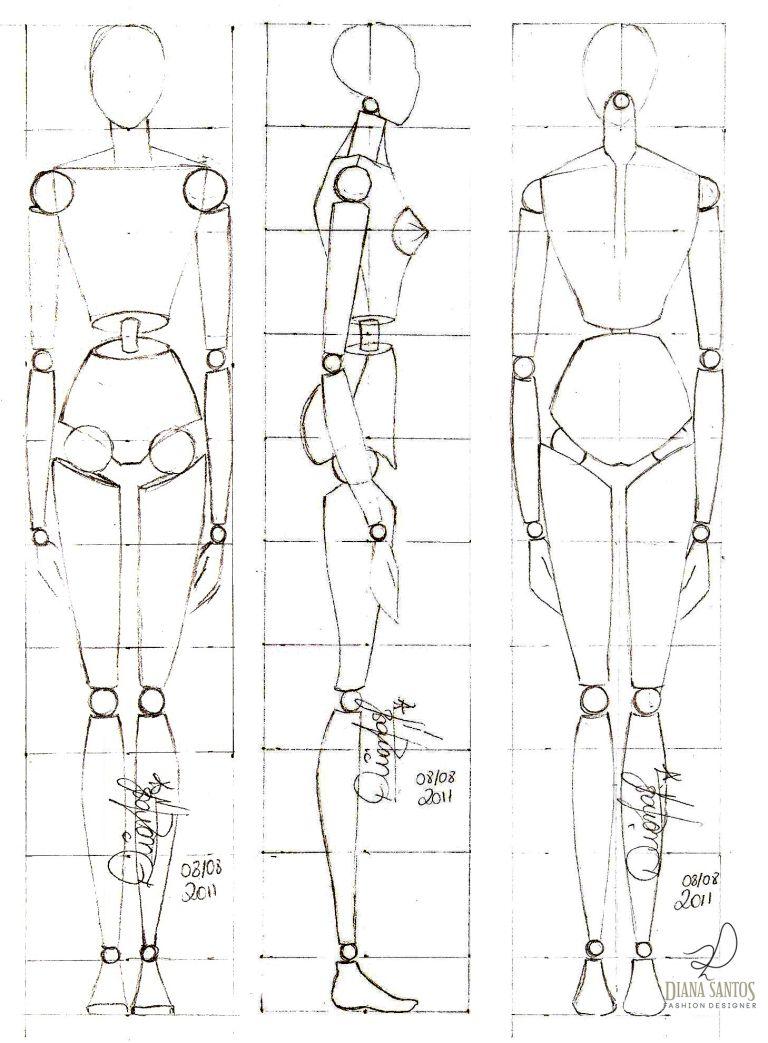 Desenhando croqui de moda #1 | Anatomía, Figurin y Dibujo