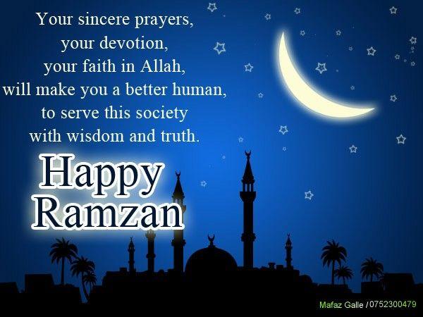Wishing you a Happy Ramadan Mubarak For All Muslim ...