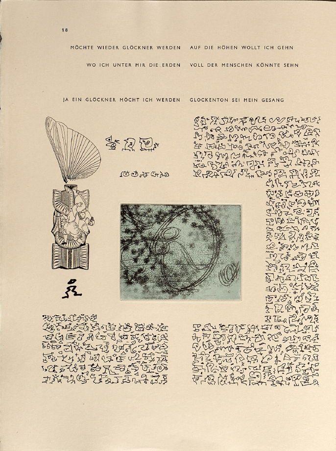 """max ernst, """"65 maximiliana, ou l'exercise illégal de l'astronomie"""" (1964), design: iliazd"""